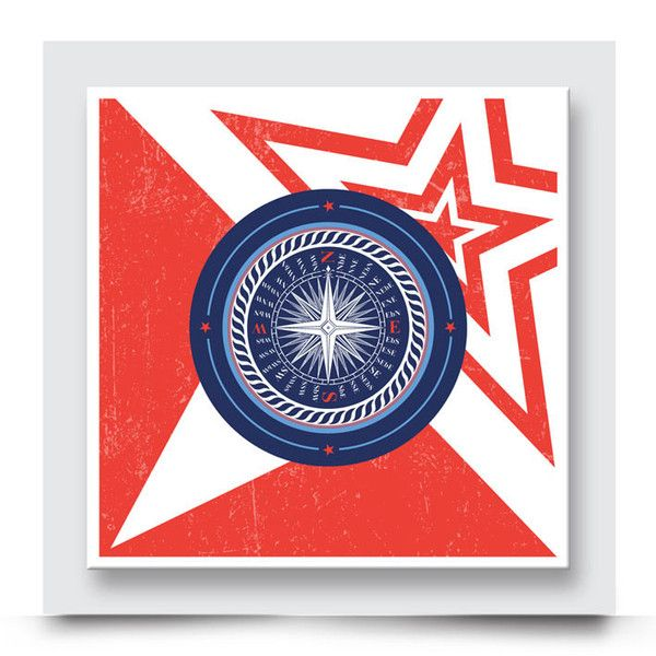 CAPTAIN AMERICA COMPASS wall art comes printed on stretched canvas or box framed, can live on its own, or compliment the other nautical artwork in this collection in a boys' nursery, kids room or playroom. This trendy design influenced from the infamous 'Captain America', is bold and timeless. Order your art print from  http://www.madicleo.com/collections/wall-art-for-boys-rooms