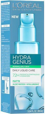 L Oreal Hydra Genius Water Gel Cream Oily Skin Sensitive Face Moisturizer Water Based Moisturiser Moisturizer For Dry Skin