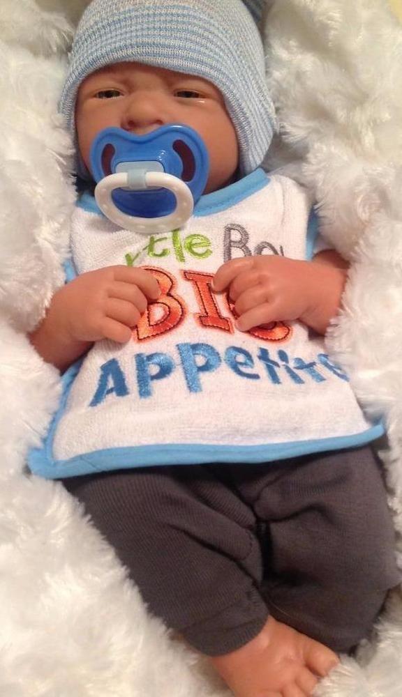 Aww Baby Boy Reborn Preemie Life Like Pacifier Bottle