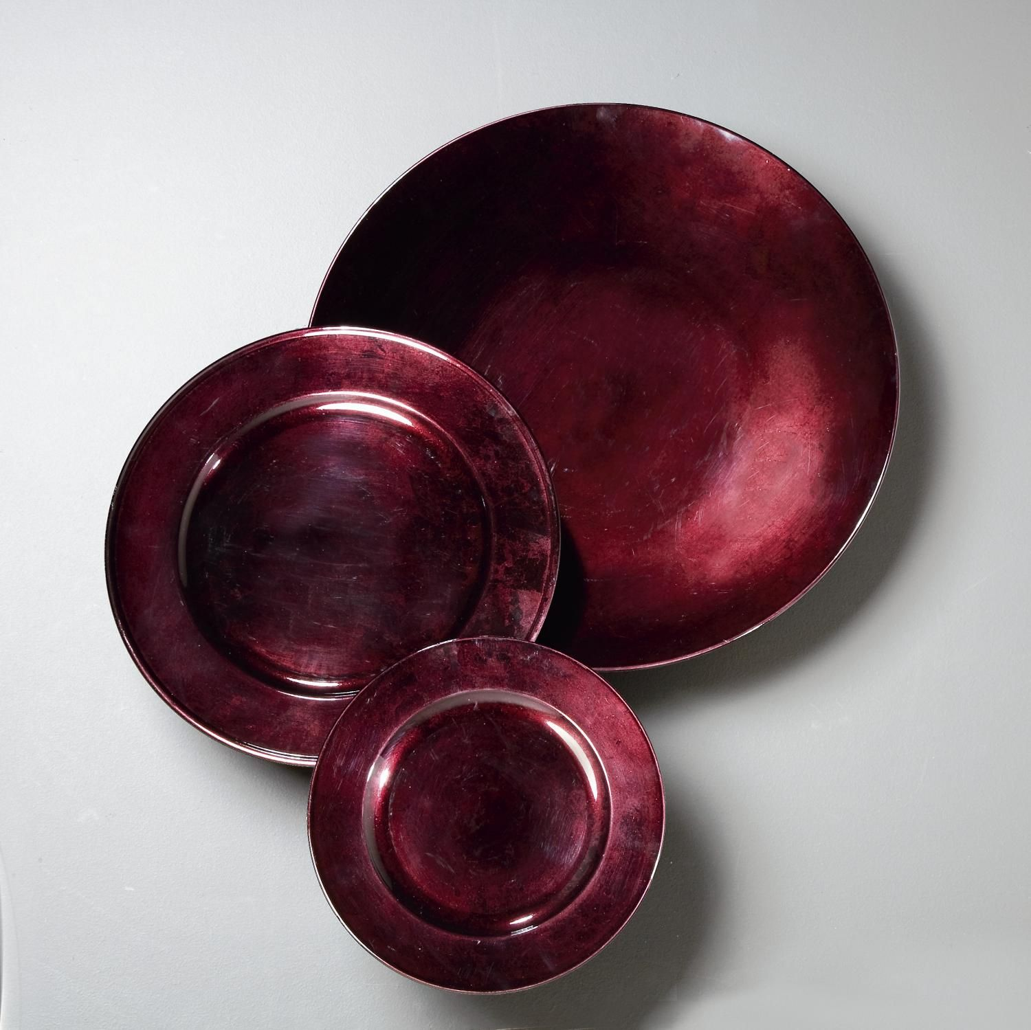 $1.75 Each 19082 Large Plum Charger Plate 13 dia - Food Safe / Purchase Minimum & $1.75 Each 19082 Large Plum Charger Plate 13