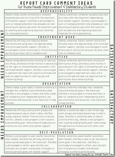 Pin by Jessica Tiara on Teaching Pinterest Report comments - resume lesson plan