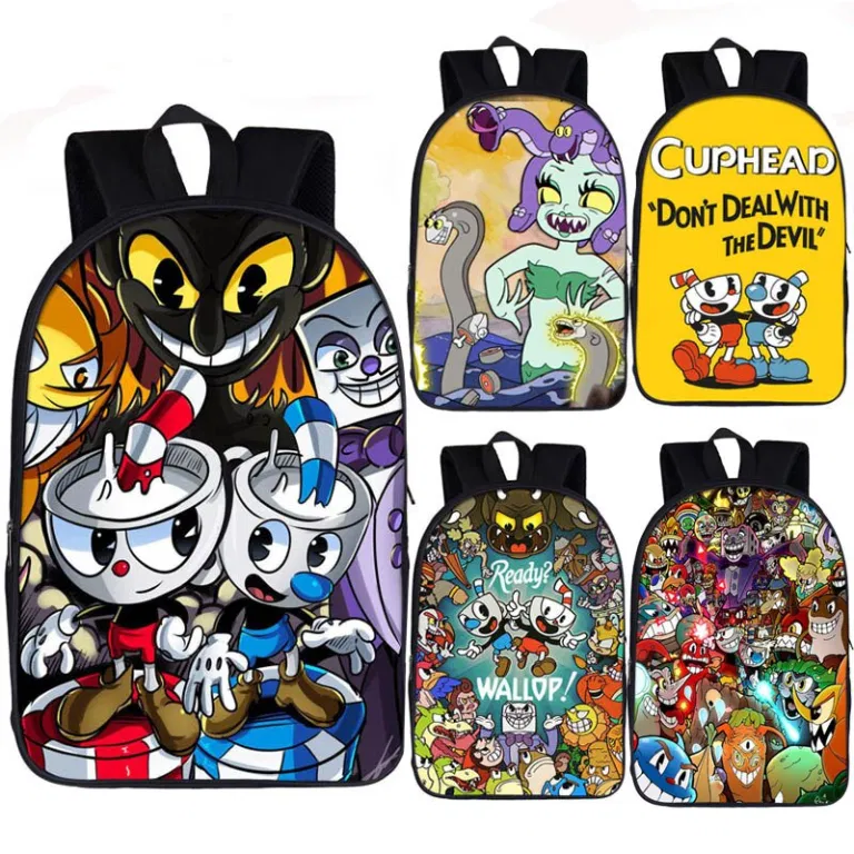 Cup-Head Unisex Casual Backpack School Bag Travel Daypack Gift