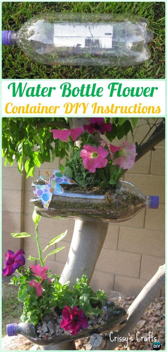 DIY Water Bottle Flower Container Instructions