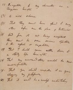 Darwin S List Of His Father S Objections To The Beagle Voyage
