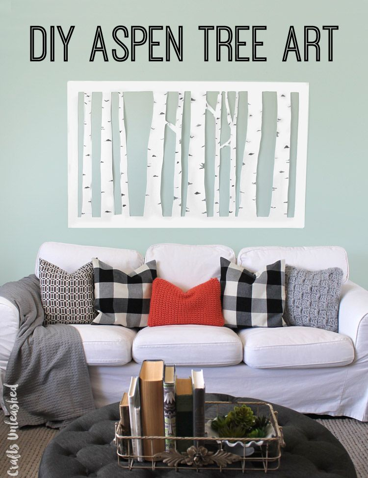 This Aspen Tree Wall Decor Diy Took About An Hour To Make Cost Less Than 10 And Will Look Amazing In Just Any E Learn How Your Own
