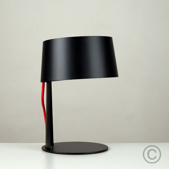 Joe Colombo Style Coupe Touch Table Lamp In Black Iluminacion