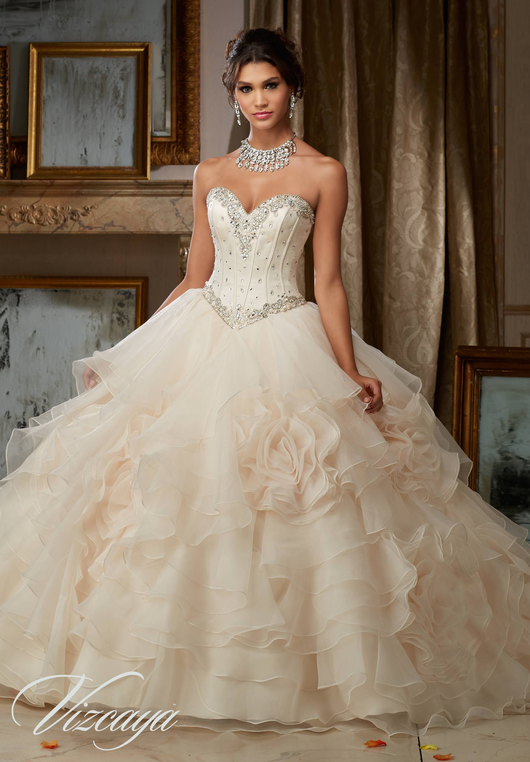 The Latest White Quinceanera Dresses By Your Favorite Designers Quinceanera Ball Gowns Wedding Quinceanera Dresses Ball Dresses [ 2636 x 1834 Pixel ]