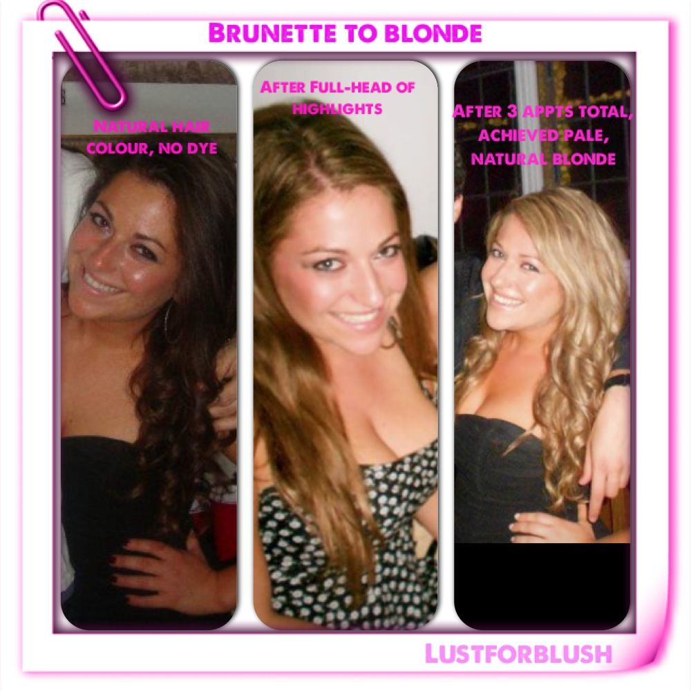 How I went from #brunette to #blonde. #hair #highlights #brown #dye #colour #natural #dyedhair #hairdye