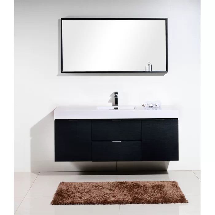 Tenafly 59 Single Bathroom Vanity Set Modern Bathroom Vanity