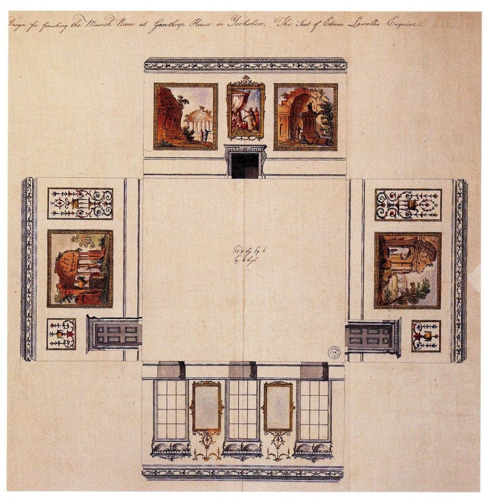 32 Harewood House Music Room laid out wall and floor plans – Harewood House Floor Plan