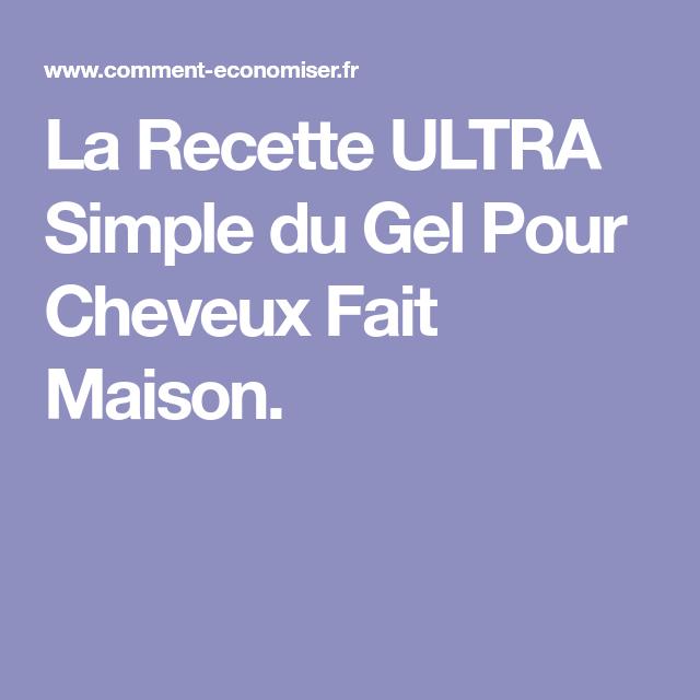 La Recette ULTRA Simple du Gel Pour Cheveux Fait Maison. (avec images) | Gel cheveux, Fait ...
