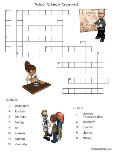 Los Numeros - Spanish Numbers 1-20 Crossword Puzzle Worksheet ...