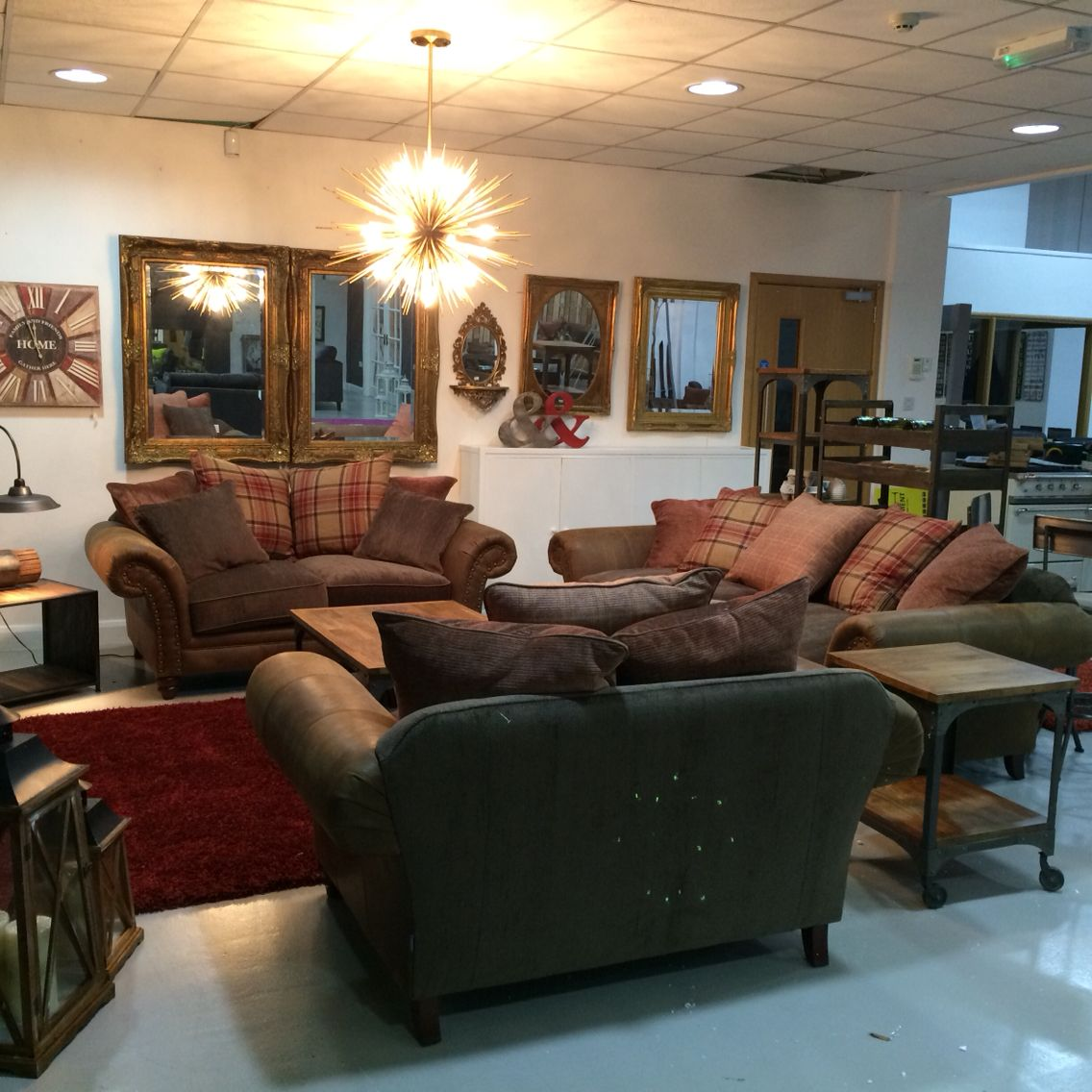 Mirror Wall, Alexander James Sofa, Leather, Fabric, Suite, Reclaimed  Furniture.
