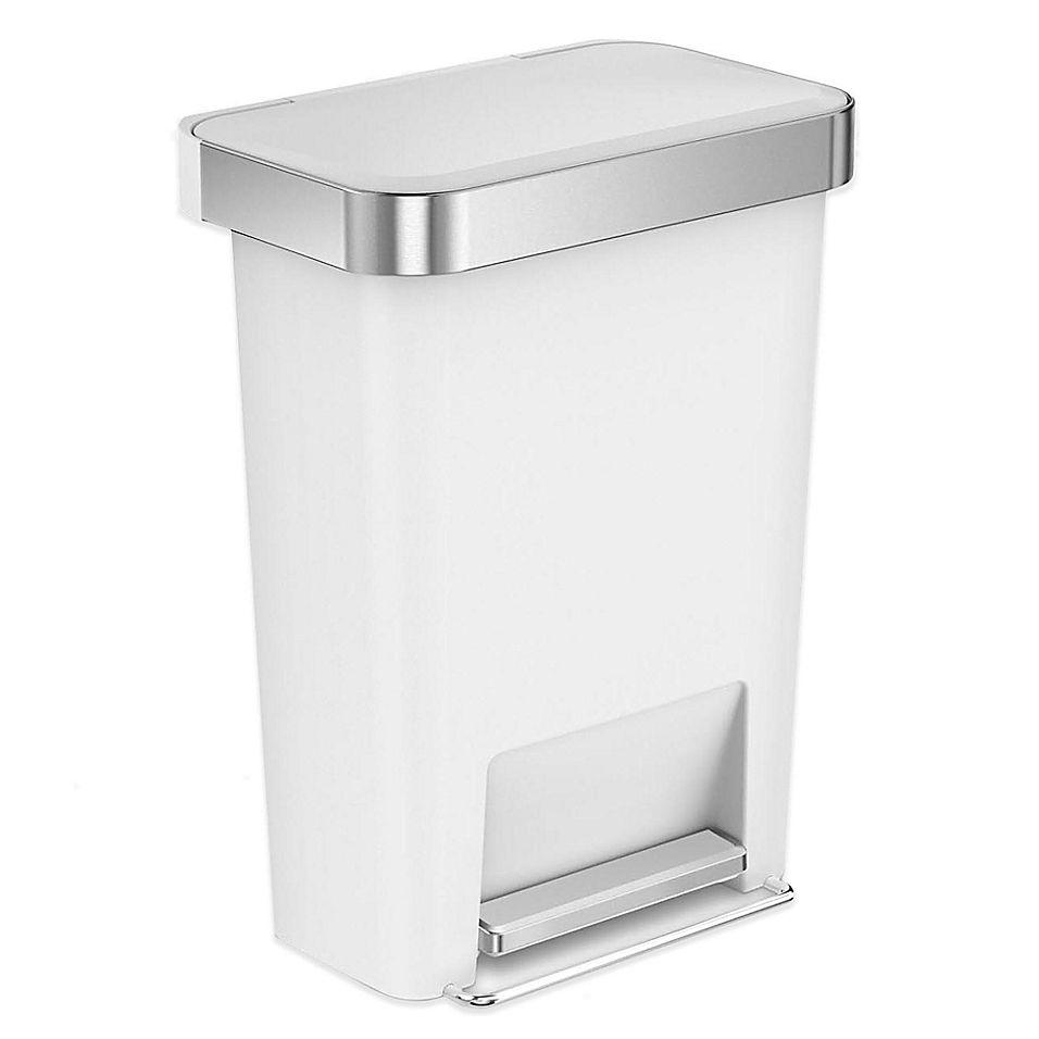 Best Simplehuman 45 Liter Plastic Rectangular Step Trash Can 400 x 300