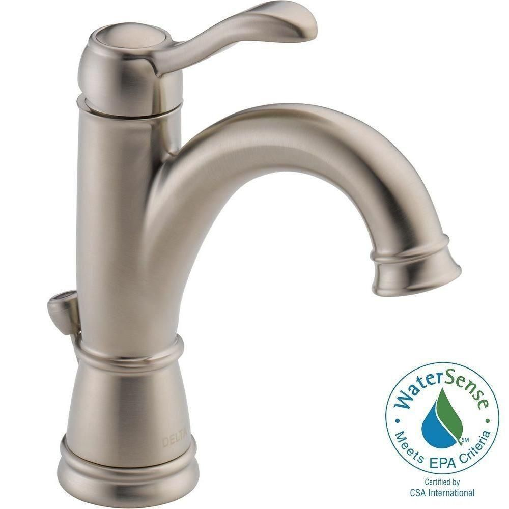 Delta Porter Single Hole Single-Handle High Arc Bathroom Faucet in ...