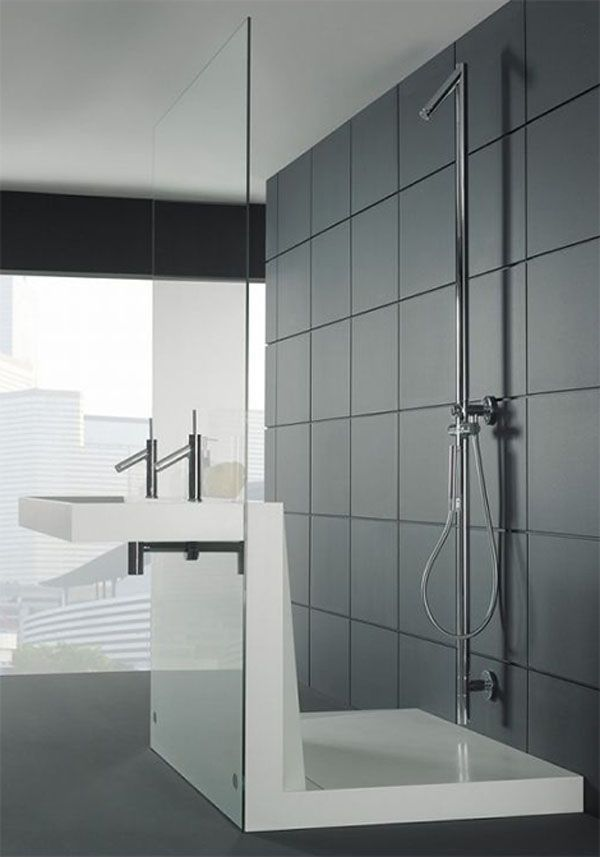 BathroomStylish Bathroom By Duscholux Made For Tile Single White - tv für badezimmer