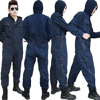 mens denim workwear mechanic womens jumpsuit protective on best insulated coveralls for men id=94601