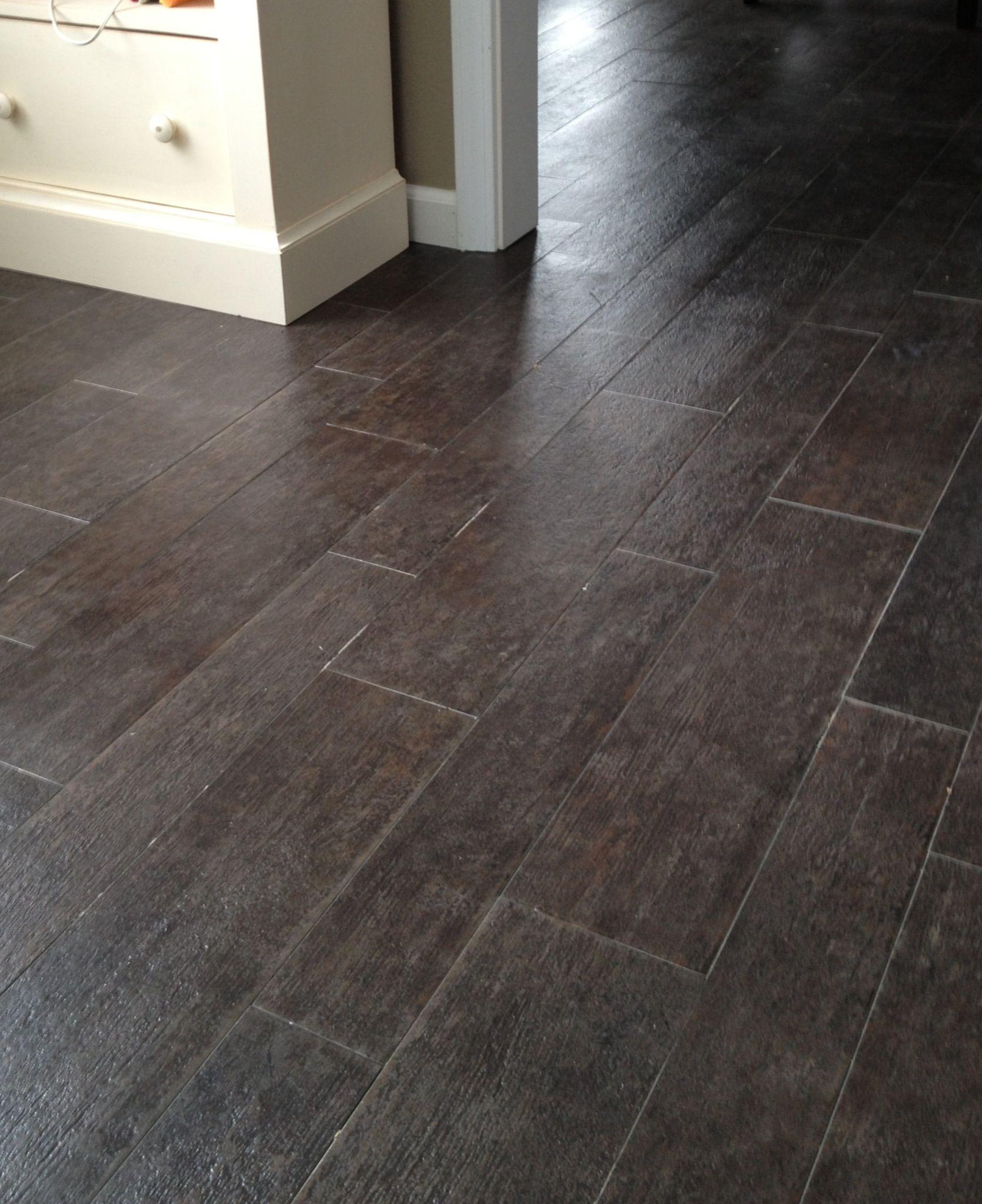Marazzi Tile Planks (yes, its tile not hardwood) in Ebony -bathroom ...