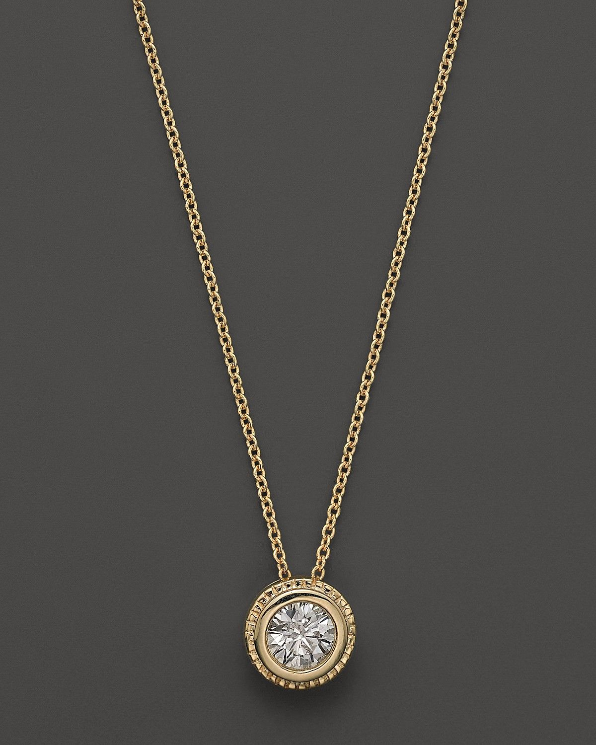 Bezel set diamond solitaire pendant necklace in 14k yellow gold 40 bezel set diamond solitaire pendant necklace in 14k yellow gold 40 ct tw bloomingdales aloadofball