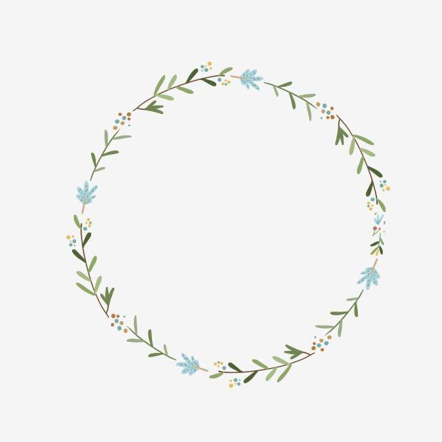 Ring Wreath Frame Hand Drawn Green Leaf Ring Design Element Painted Korean Style Green Leaf Tags Ideias Ideias Quilling Pontos Bordados A Mao