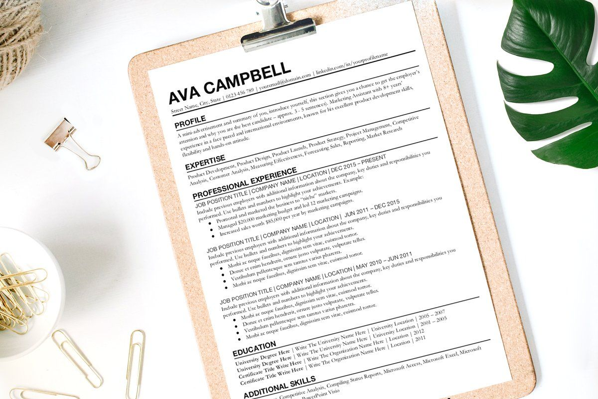 Resume Template for Google Docs Simple resume template