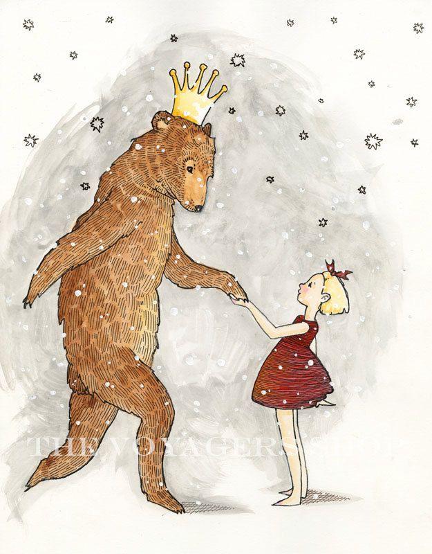 The Bear Prince 8.5 x 11 print. $24.00, via Etsy.