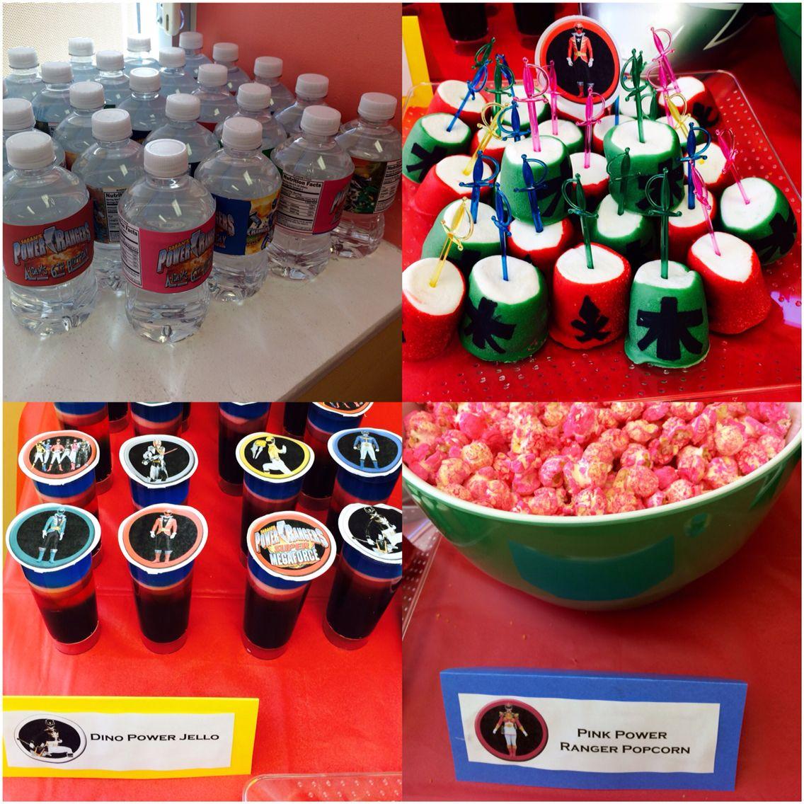 Power Ranger Party Food Ideas Jackson S 5th Birthday Pinterest