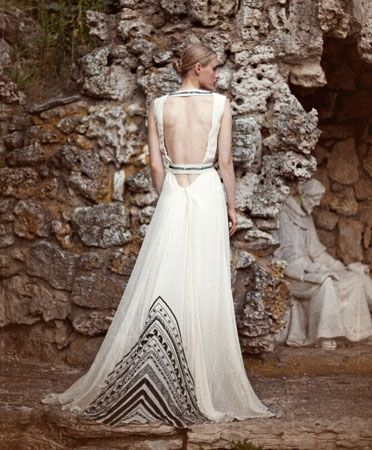 The Back Of This Dress Is Phenom Mara Hoffman Beaded Black Bodice And Tail