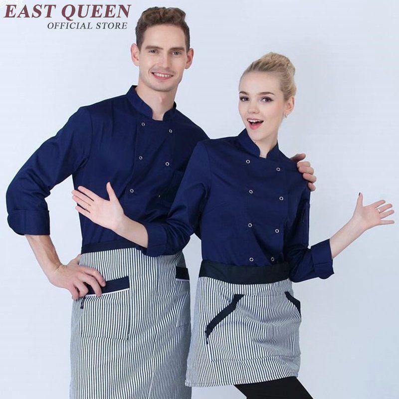 a9913a61b20 Chef jacket restaurant uniform shirt hotel kitchen uniforms men chef shirt  clothing hotel male cooks clothing NN0141 W. Yesterday s price  US  51.00  (42.09 ...