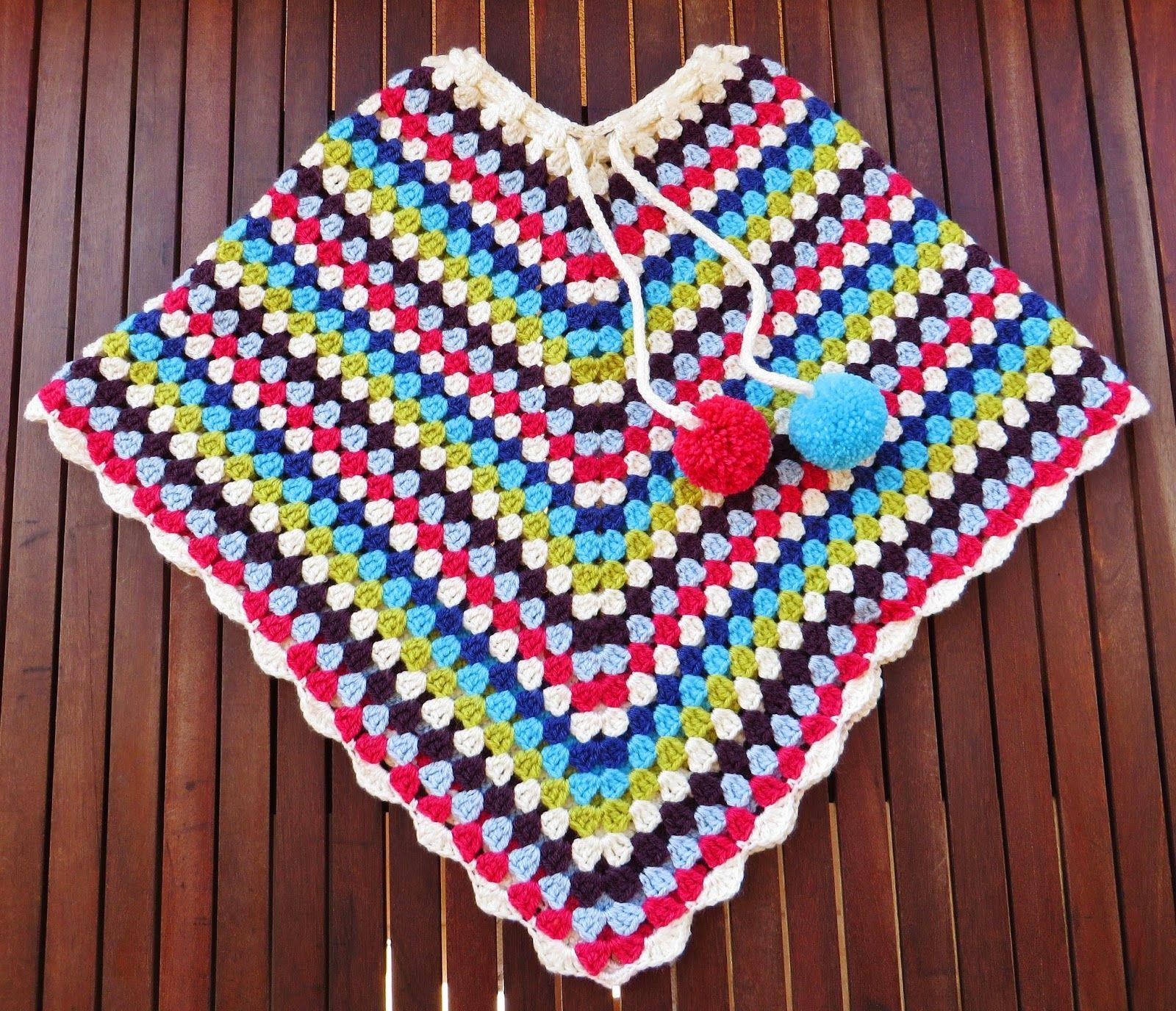 Lãs com Tons: Poncho em crochet para menina - Projecto nº9 / #20...