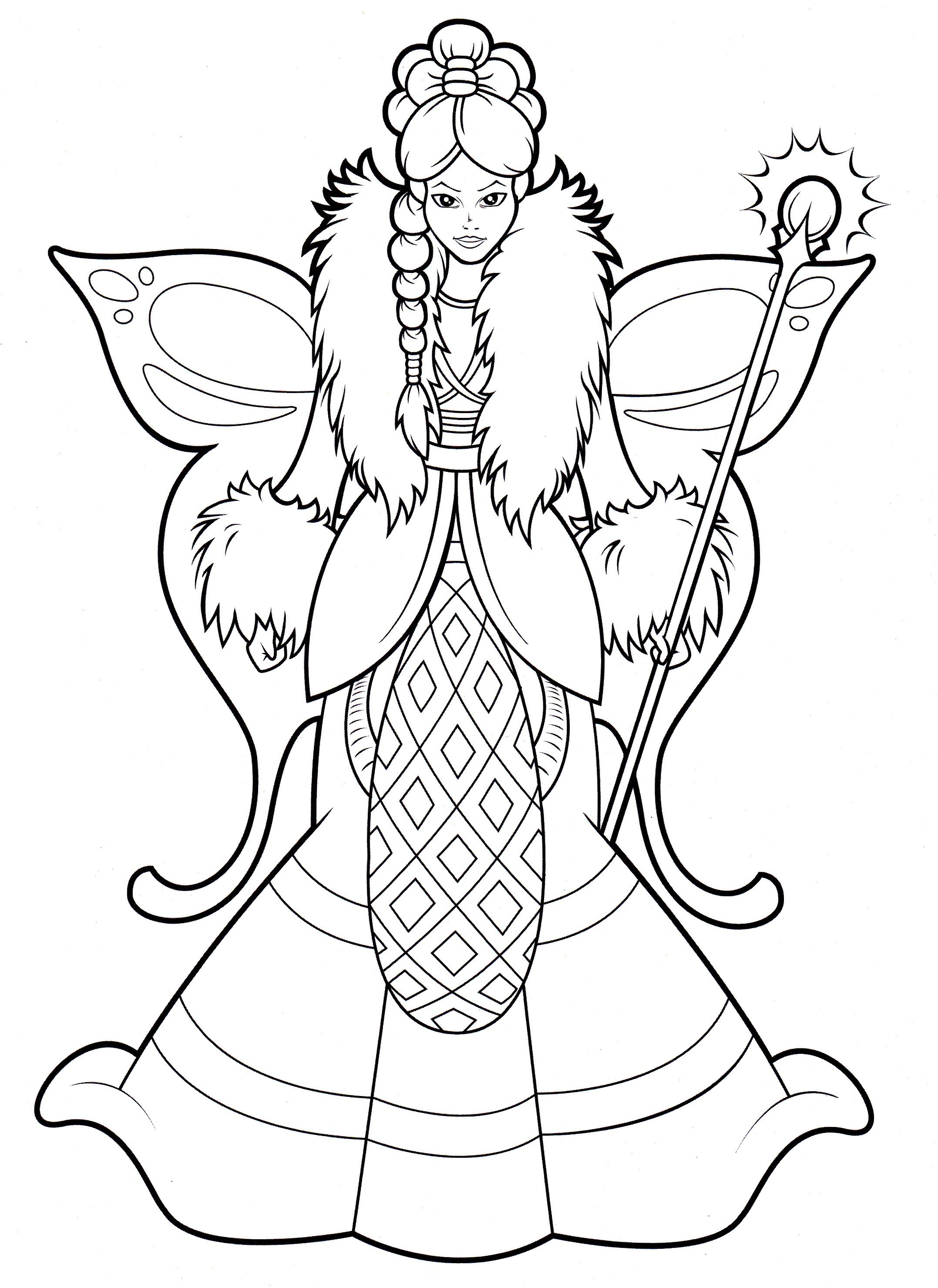Fairy from Lilly Butterfly coloring book | Coloring pages scanned ...
