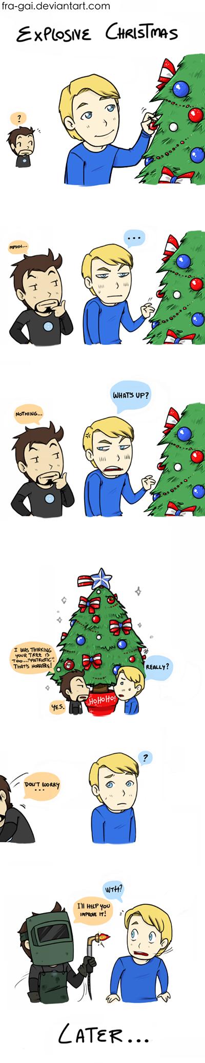 Explosive Christmas 1/2   Stony cute   Pinterest   Stony, Marvel and ...