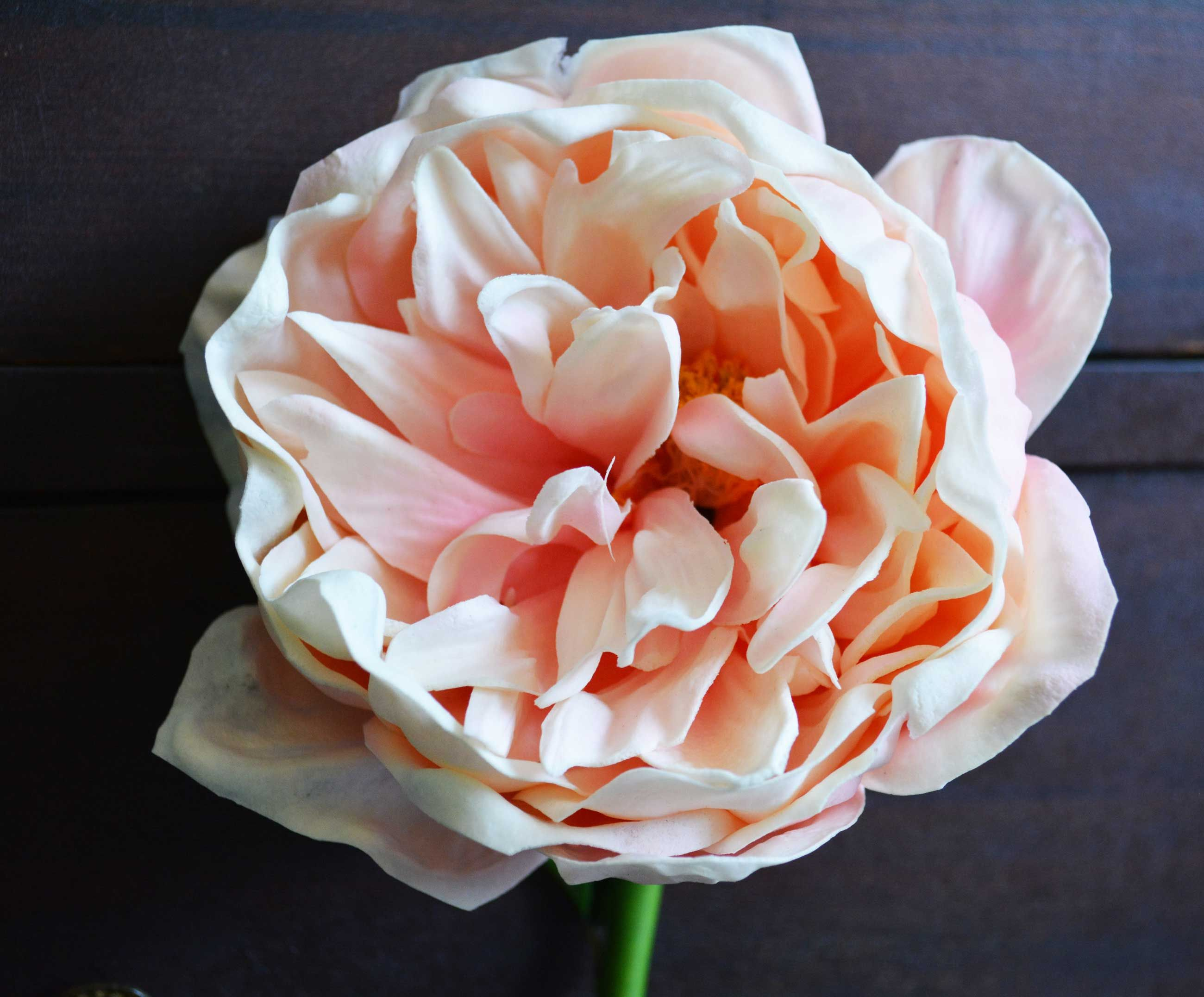 Home bulk roses peach roses - Stunning Real Touch Peony In Cream And Pink Measures 30 Inches Tall With A Inch In Diameter Flower Head Perfect For Artificial Bridal Bouquets And Wedding