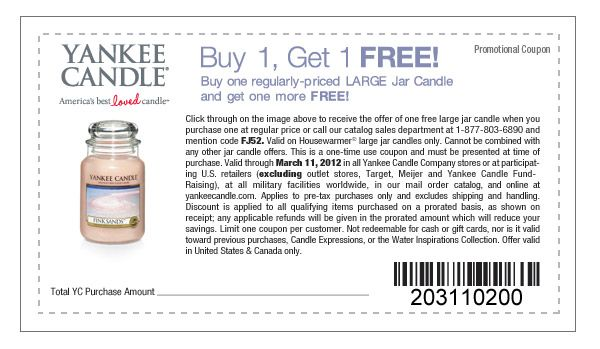 graphic relating to Printable Yankee Candle Coupons called Yankee Candle Coupon Invest in 1 order 1 totally free! hence quite a few scents toward