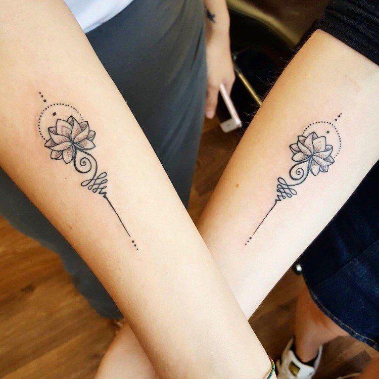 Tatouages Pour Sœurs Les Plus Jolies Inspirations Pour Filles Tatouage Soeurs Tatouage Meilleure Amie Tatouages Bff