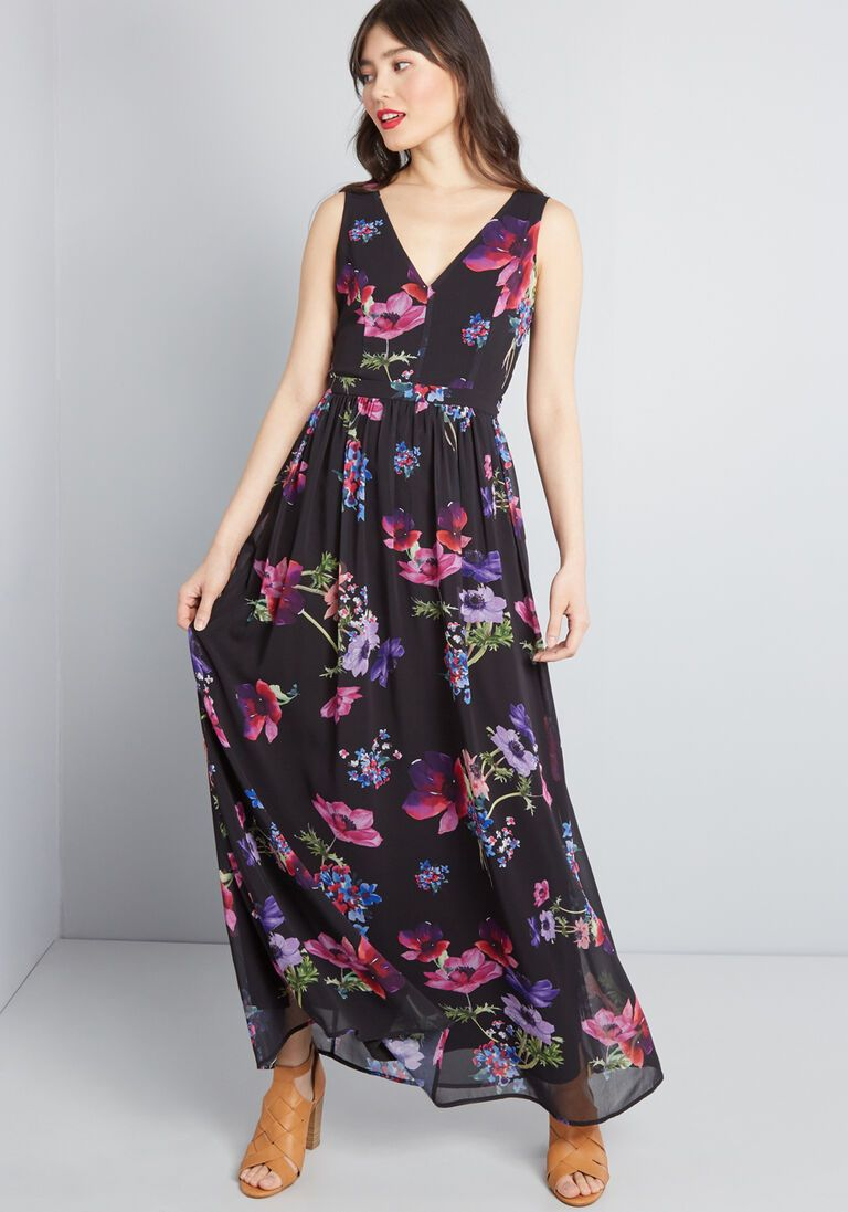 Muster the Length Maxi Dress in L Sleeveless Aline Long