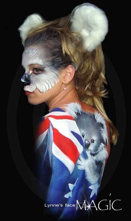 Lynne Jamison || koala body paint | Face/Body Painting Inspiration ...