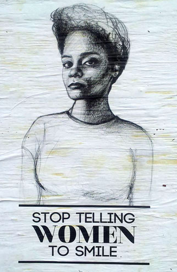 Stop Telling Women to Smile #streetart http://malaguetas.blog.br/das-ruas-para-ruas-conheca-tatyana-fazlalizadeh-e-seu-projeto-contra-o-assedio-mulheres/