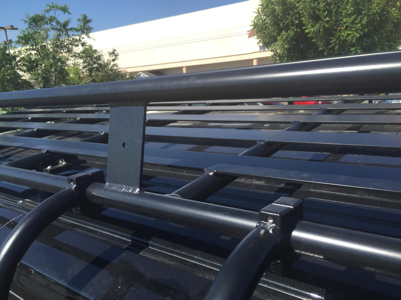 Close Up Of Aluminess Roof Rack On Ford Transit Photo Cred