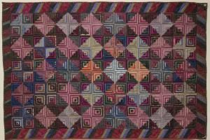 Log Cabin Quilts Photo Gallery and Layout Tips: Sunshine and Shadows Log Cabin Quilt Layout