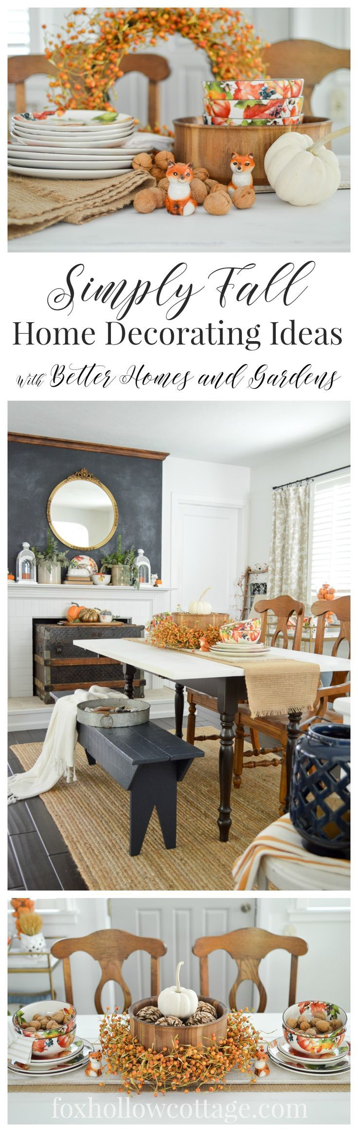 Autumn Home Decorating Simple Fall Table | Pinterest | Cottage ...