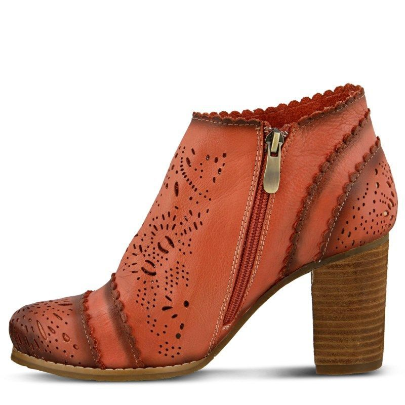 Spring Step Women's Bao Booties (Red Leather)