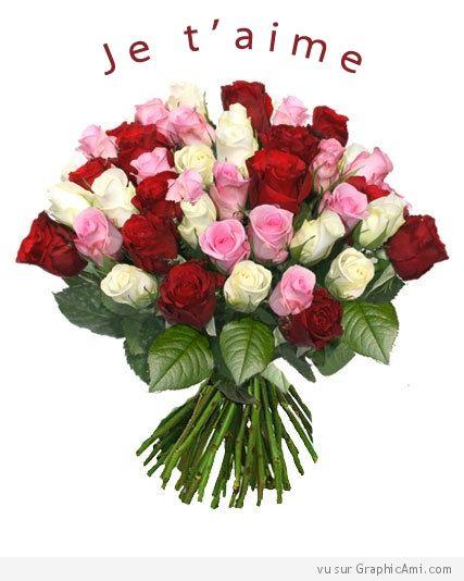 Bouquet De Roses Je T Aime Amour Et Sentiments Pinterest