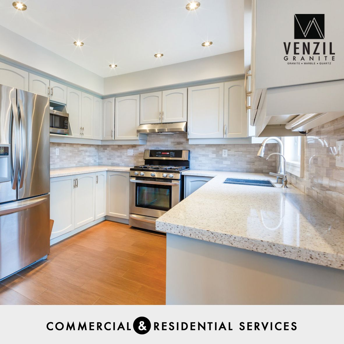 We take care of fabrication and installation of kitchen