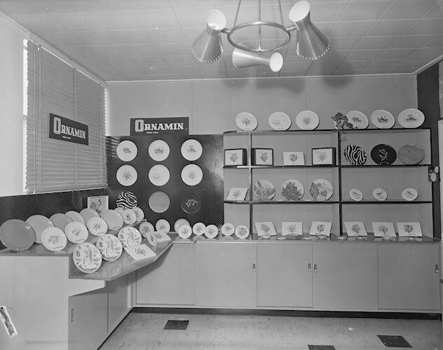 British Plastics Ltd, Ornamin Plastic Plates Display, Hawthorn, Victoria, 16 Sep 1959