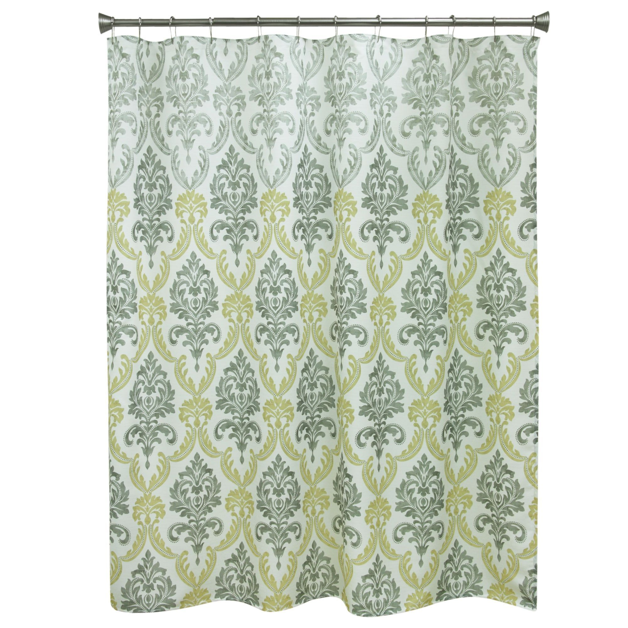Portico Yellow Fabric Shower Curtain
