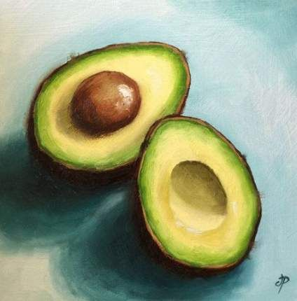 38+ Trendy Painting Nature Canvas Still Life Авокадо🥑