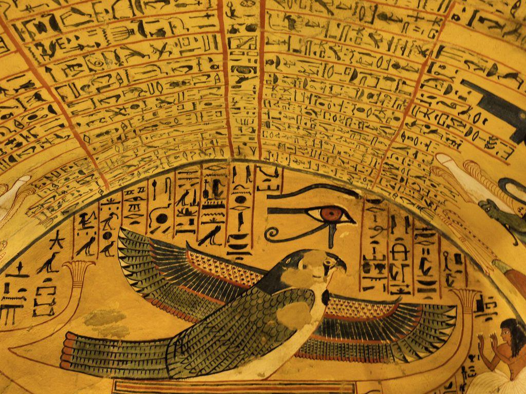 Deir el medina tomb of paschedu deir el medina a for Egyptian mural art