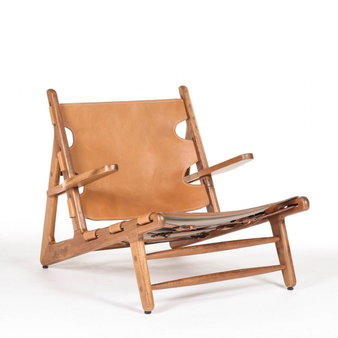 Mid Century Modern Reproduction Hunting Chair Inspired By Borge Mogensen