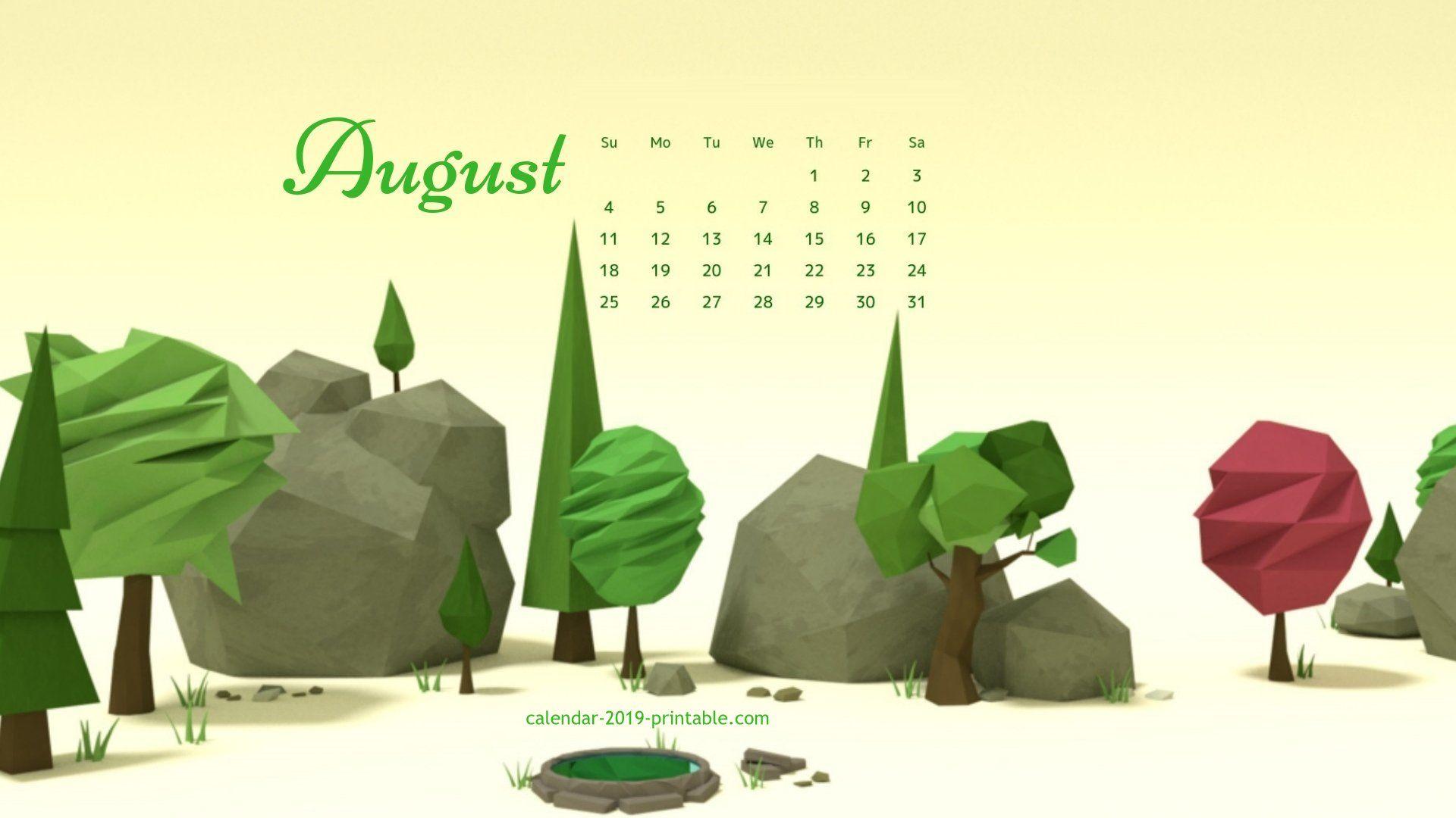 August 2019 Desktop Background Calendar Calendar Wallpaper Desktop Calendar Desktop Wallpaper Calendar